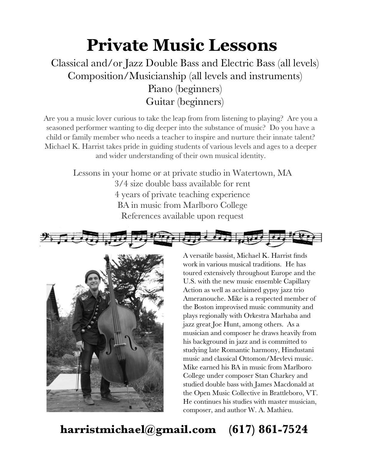private music teacher cover letter