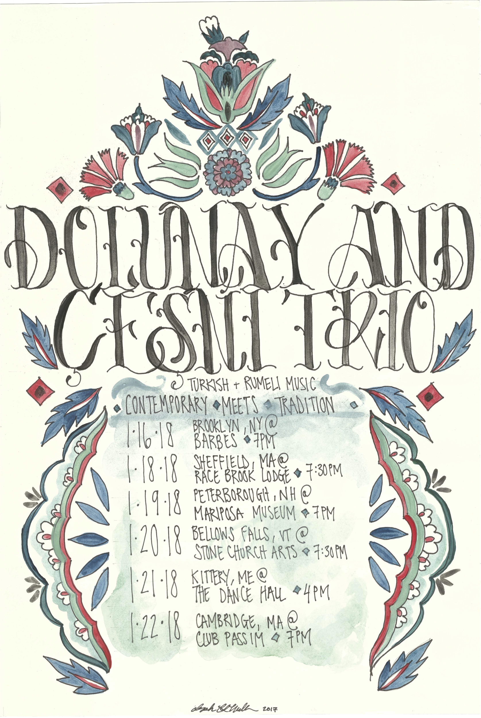 Dolunay Cesni Trio Tour Poster copy
